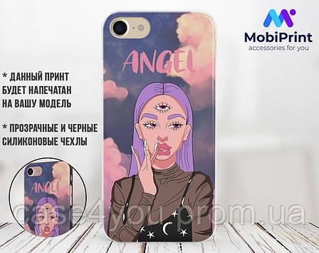 Силиконовый чехол Ангел Диджитал Арт (Angel Digital art) для Samsung J600 Galaxy J6 (2018) , фото 2