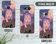 Силиконовый чехол Ангел Диджитал Арт (Angel Digital art) для Samsung J600 Galaxy J6 (2018) , фото 3