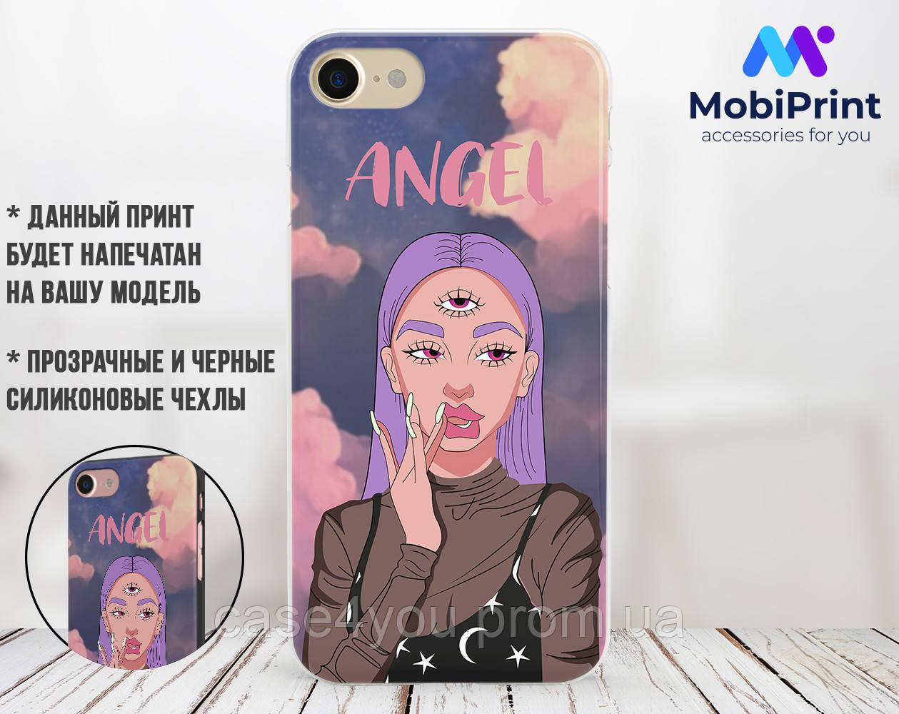 Силиконовый чехол Ангел Диджитал Арт (Angel Digital art) для Xiaomi Mi Note 3
