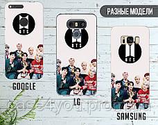 Силиконовый чехол БТС (BTS) для Huawei P40 , фото 3