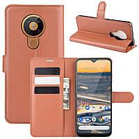 Чехол-книжка Litchie Wallet для Nokia 5.3 Brown