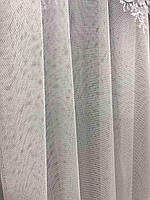 Елегантний  тюль з фатину з вишивкою білого кольору на метраж , висота 2.8 м(12013), фото 5
