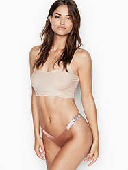 💋 Трусики зі стразами Victoria's Secret Love Shine Strap Brazilian Panty, Рум'яна