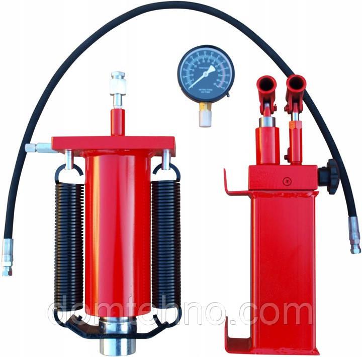 Гидроцилиндр для преса на 50т (Гидравлический насос + цилиндр + манометр + шланг)
