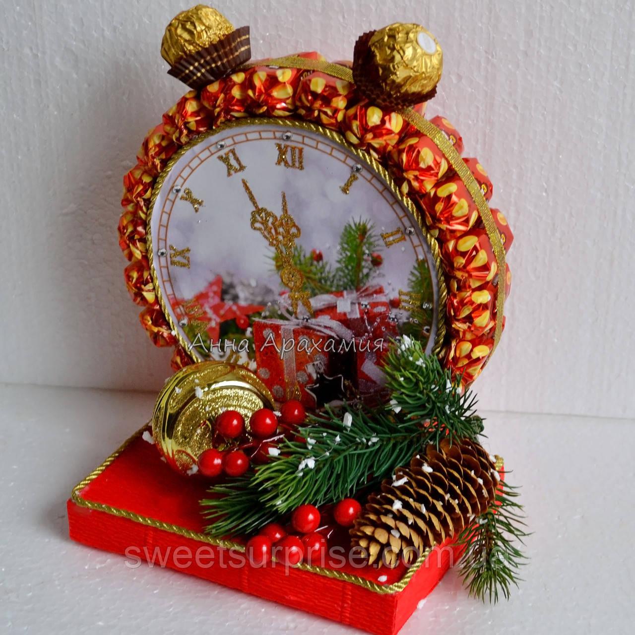 Новогодний подарок часы из конфет наручные часы omax производитель