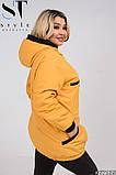 Жіноча весняна синтепоновая куртка розмір 50,52,54,56,58,60, фото 2