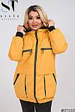 Жіноча весняна синтепоновая куртка розмір 50,52,54,56,58,60, фото 4