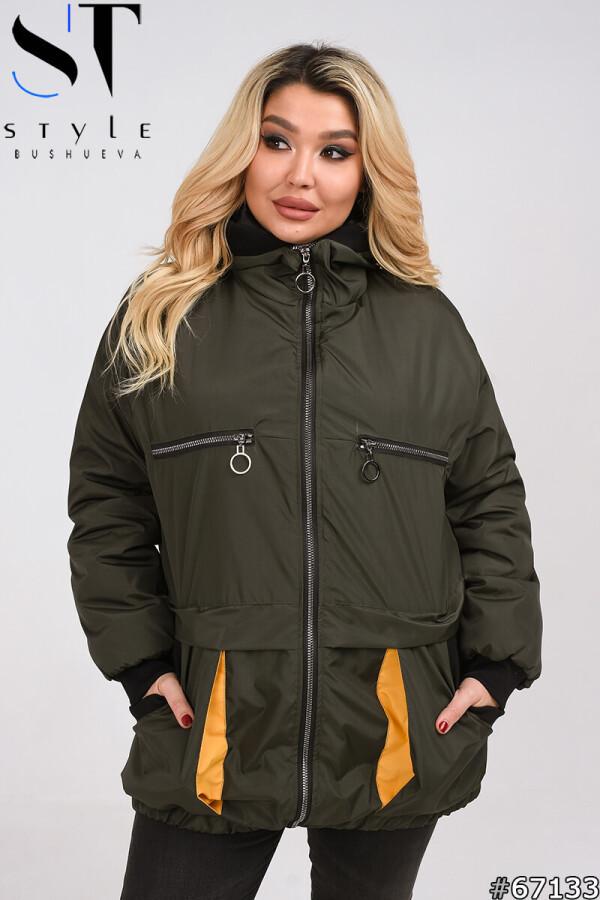 Жіноча весняна синтепоновая куртка розмір 50,52,54,56,58,60