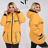 Жіноча весняна синтепоновая куртка розмір 50,52,54,56,58,60, фото 6