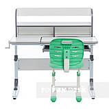 Комплект для школьников растущая парта Cubby Nerine Grey + детский стул FunDesk SST2 Green, фото 2