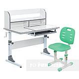 Комплект для школьников растущая парта Cubby Nerine Grey + детский стул FunDesk SST2 Green, фото 4
