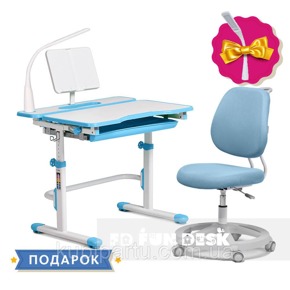 Комплект растущая парта Cubby Fressia Blue+эргономичное кресло FunDesk Pratico Blue