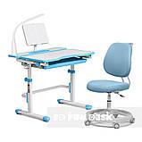 Комплект растущая парта Cubby Fressia Blue+эргономичное кресло FunDesk Pratico Blue, фото 4