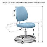 Комплект растущая парта Cubby Fressia Blue+эргономичное кресло FunDesk Pratico Blue, фото 8