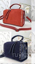 Женская Сумочка клатч замш  кросс-боди через плечо сумка саквояж.
