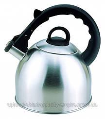 Чайник нержавеющая сталь 2,5 л со свистком Con Brio СВ-407