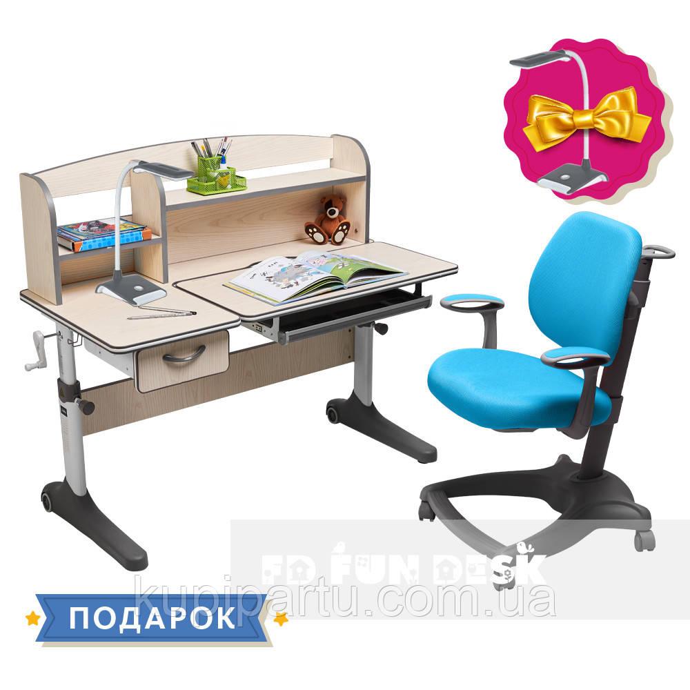 Комплект растущая парта Cubby Ammi Grey + oртопедическое кресло FunDesk Delizia Mint