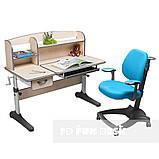 Комплект растущая парта Cubby Ammi Grey + oртопедическое кресло FunDesk Delizia Mint, фото 2