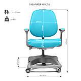 Комплект растущая парта Cubby Ammi Grey + oртопедическое кресло FunDesk Delizia Mint, фото 8