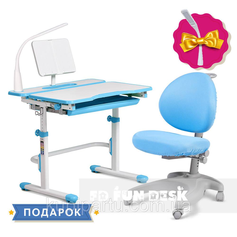 Комплект зростаюча парта Cubby Fressia Blue + дитяче ергономічне крісло FunDesk Cielo Blue