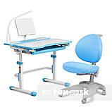 Комплект зростаюча парта Cubby Fressia Blue + дитяче ергономічне крісло FunDesk Cielo Blue, фото 3