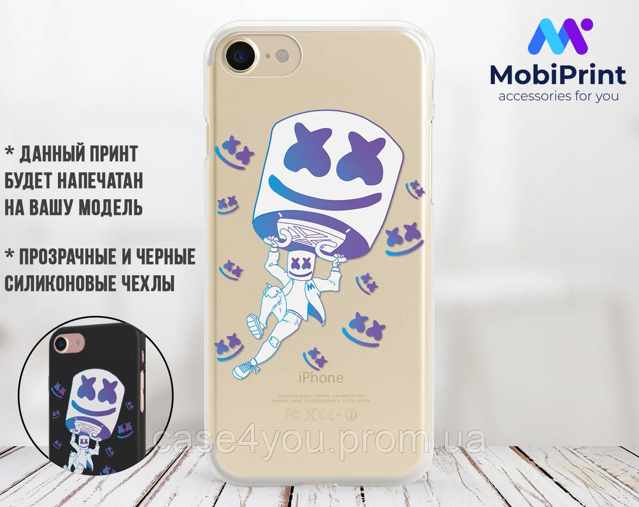 Силиконовый чехол Маршмелло Фортнайт (Marshmello Fortnite)  для Samsung A805 Galaxy A80