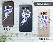 Силиконовый чехол Маршмелло Фортнайт (Marshmello Fortnite)  для Samsung A805 Galaxy A80 , фото 3