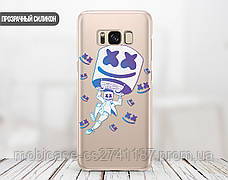 Силиконовый чехол Маршмелло Фортнайт (Marshmello Fortnite)  для Samsung A805 Galaxy A80 , фото 2