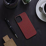 Чохол для iPhone 12 Pro Max K-DOO Kevlar M Pattern червоний, фото 2