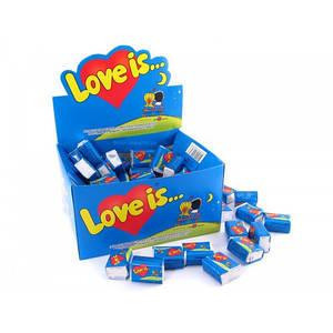 Жуйки Love is..блок упаковка 50 /100шт в асортименті/блок жуйок банан-полуниця