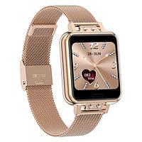 Модные женские умные часы SMART NORTH EDGE ALICE GOLD, наручные смарт часы