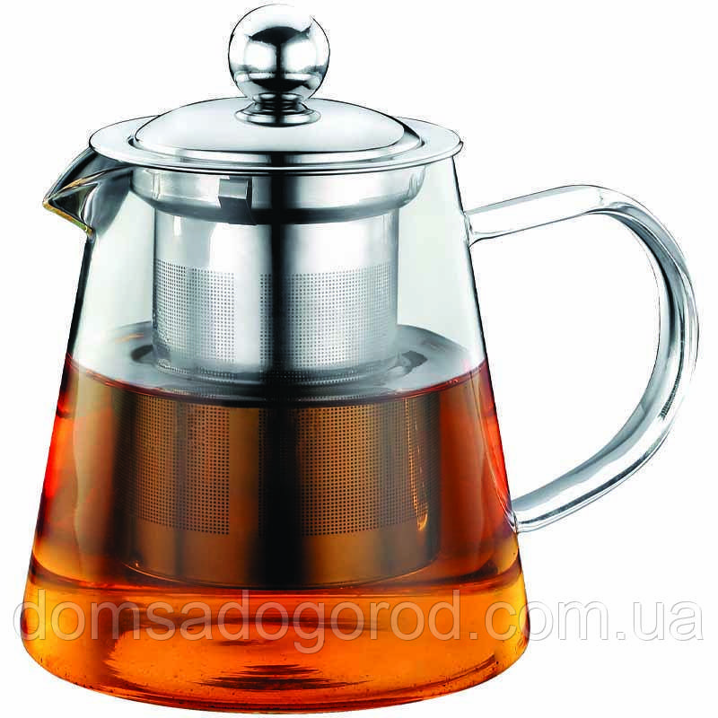 Скляний Заварювальний Чайник (заварник) 1200мл Con Brio CB-5212