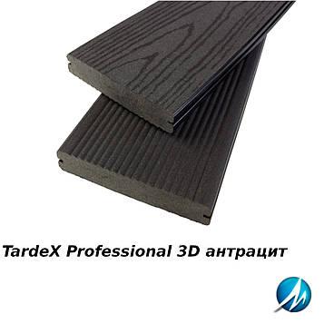 Террасная доска TARDEX PROFESSIONAL 3D антрацит