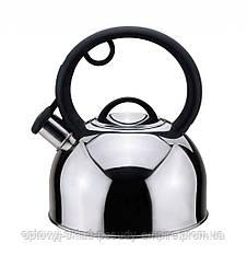 Чайник нержавеющая сталь 2,5 л со свистком Con Brio СВ-404