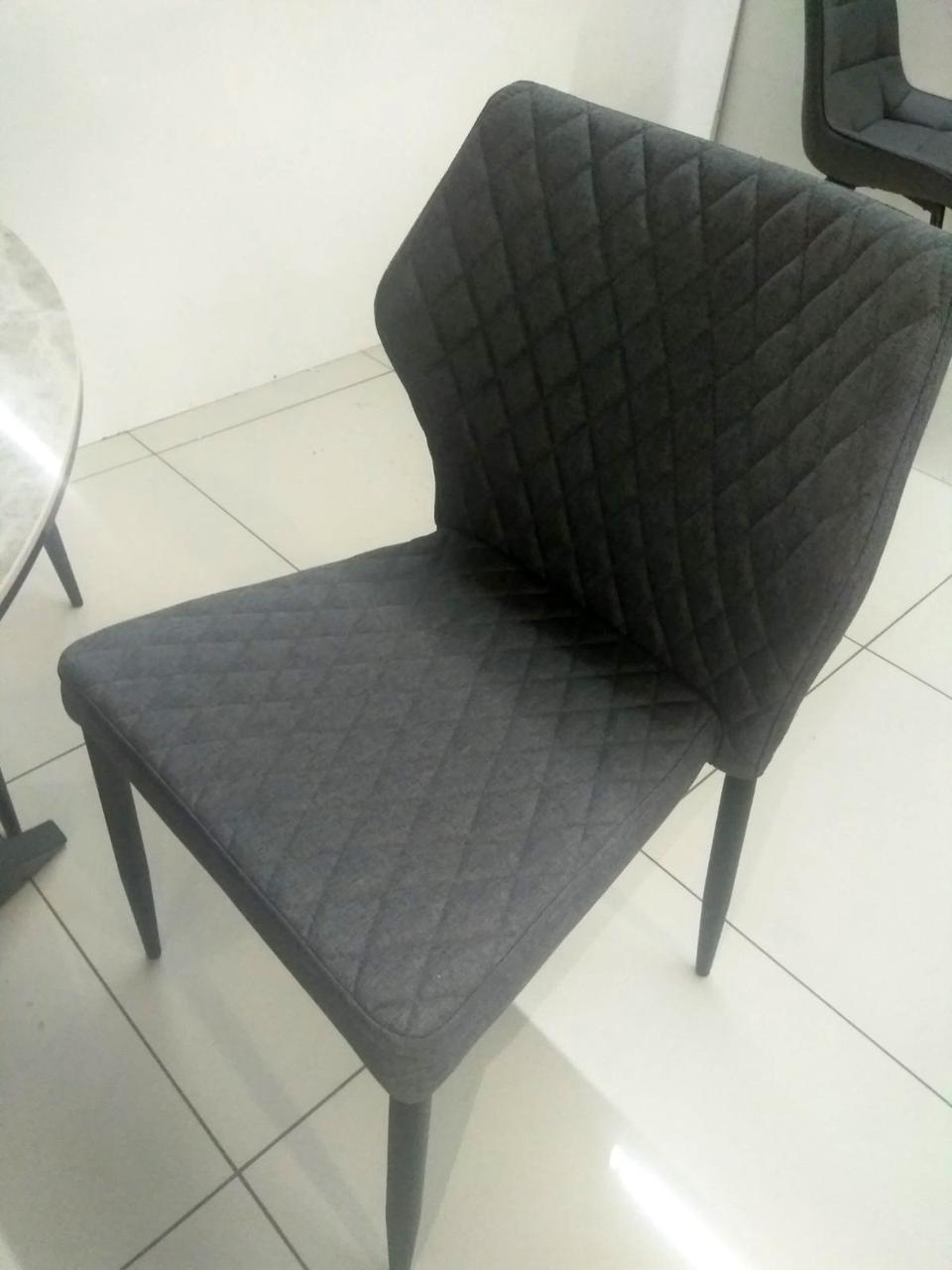 Штабельована стілець Finiks Фінікс темно-сірий, шеніл