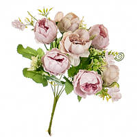 """Букет цветов """"Роза пионовидная"""" розовая, в упаковке 6 шт. (8139-008)"""