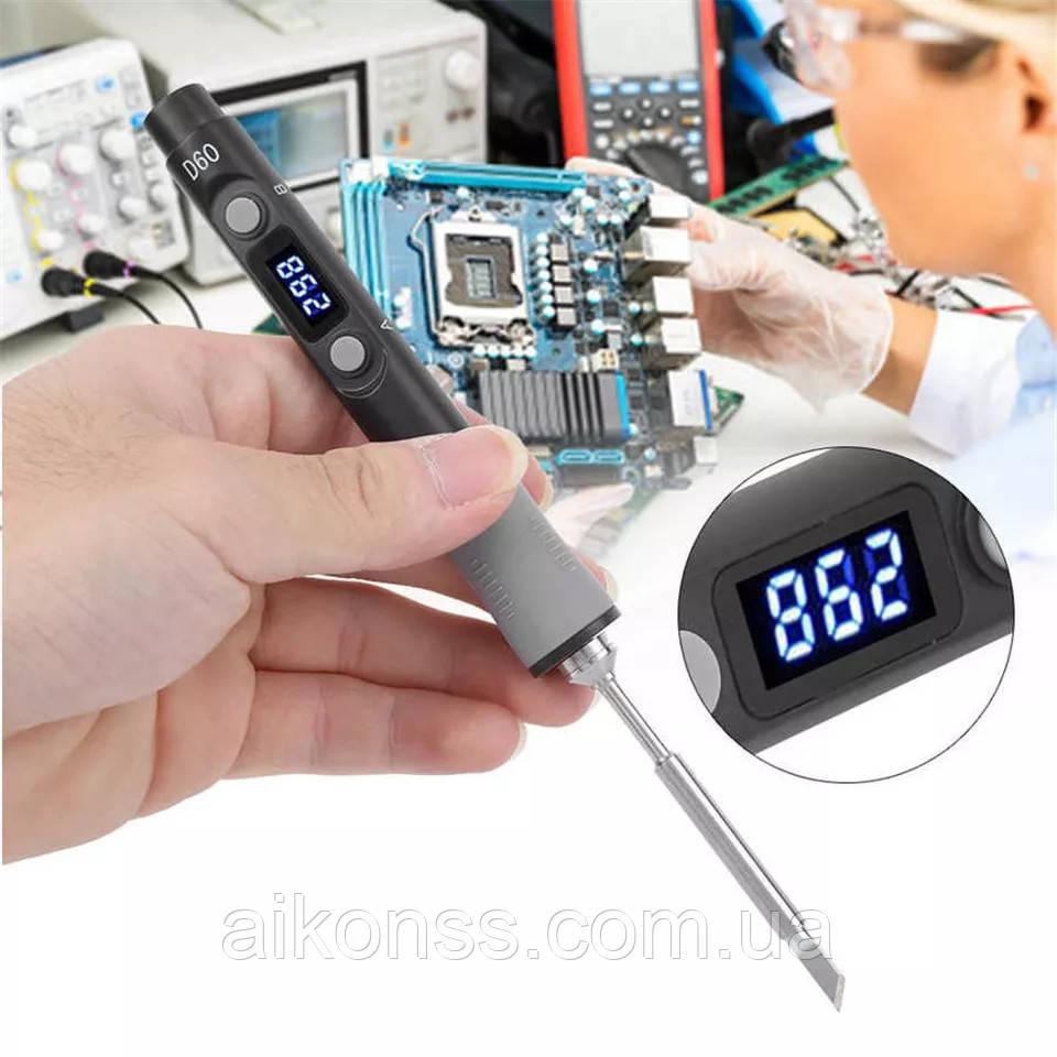 SEQURE SQ-D60 B. Розумний Паяльник 65W 12-24V . Цифровий LED дисплей з регулюванням аналог TS100 , SH72, SQ001