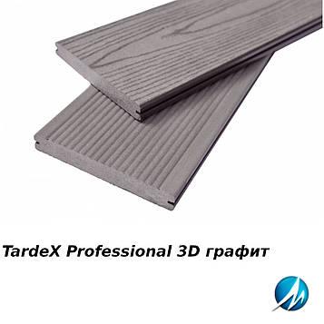 Террасная доска TARDEX PROFESSIONAL 3D графит