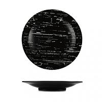 Тарелка глубокая темный камень 30 см