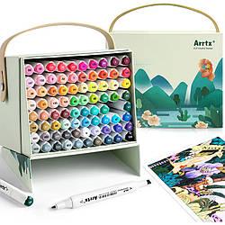 Спиртові маркери Arrtx Alp ASM-0280A 80 кольорів