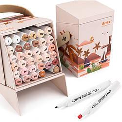 Спиртові маркери Arrtx Alp ASM-02SK 36 кольорів, відтінок шкіри