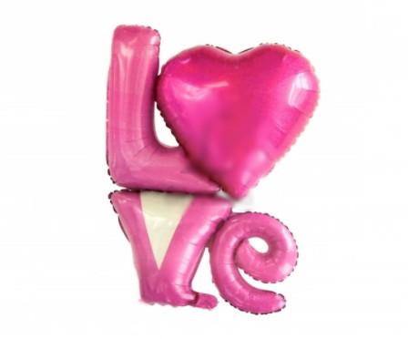 Воздушный фольгированный шар Love 90 см