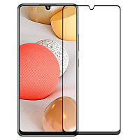 Защитное стекло для Samsung Galaxy A02s на весь экран 5д стекло на телефон самсунг а02с черное NFD