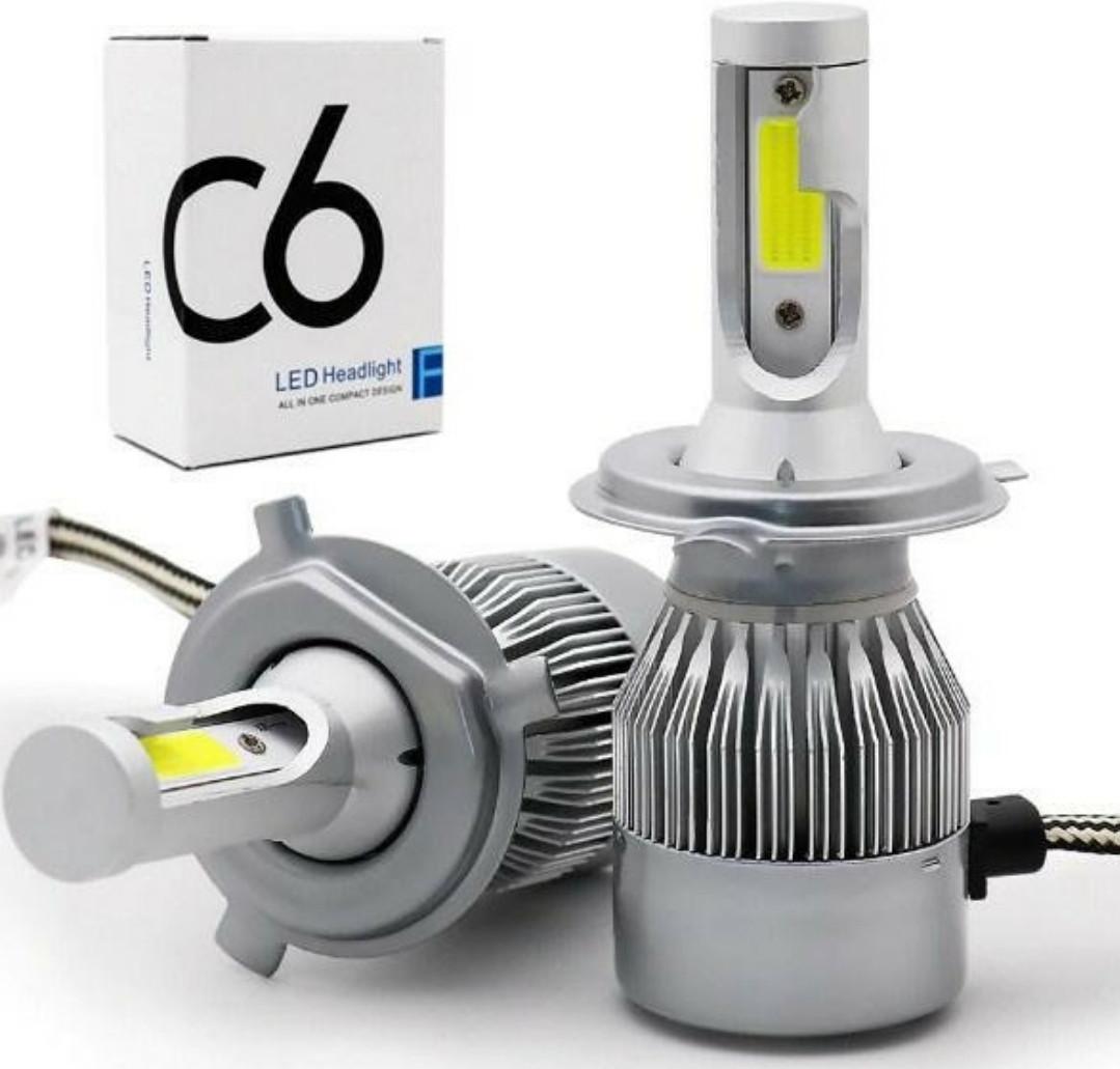 Лампы LED C6 H4 36w 3800Lm комплект