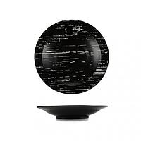 Тарелка глубокая темный камень 25,5 см