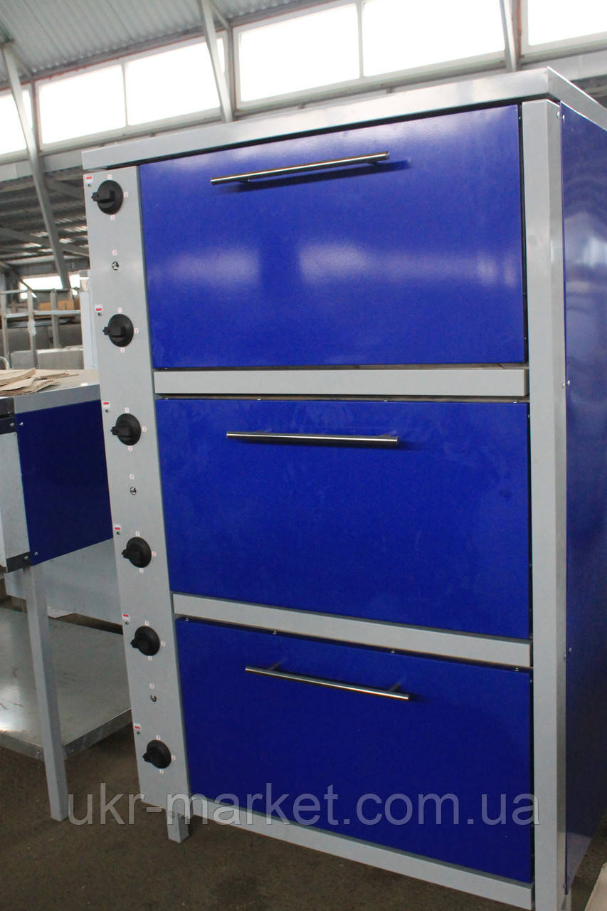 Шафа жарова електрична трисекційна ШЖЭ-3-GN1/1 стандарт