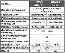 Шафа жарова електрична трисекційна ШЖЭ-3-GN1/1 стандарт, фото 3
