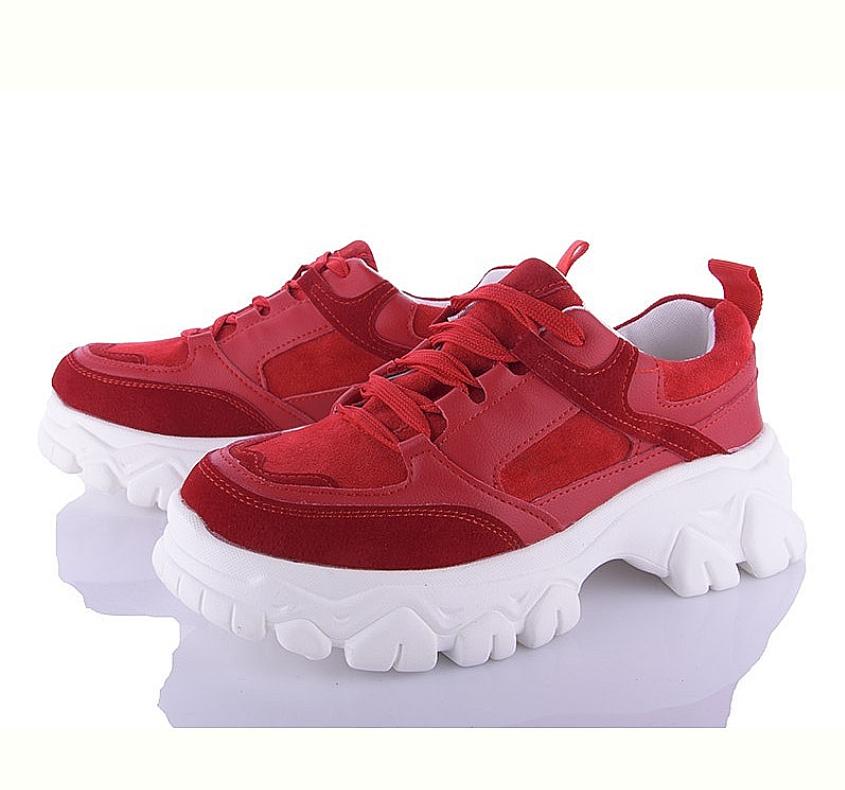 Женские кроссовки красные на платформе, мягкие, велюровые