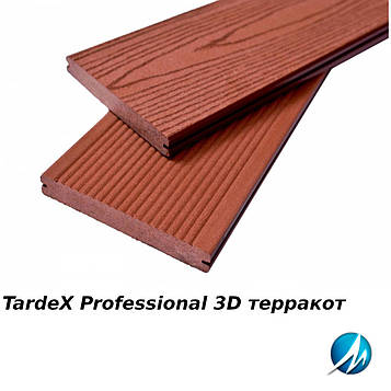 Террасная доска TARDEX PROFESSIONAL 3D терракот
