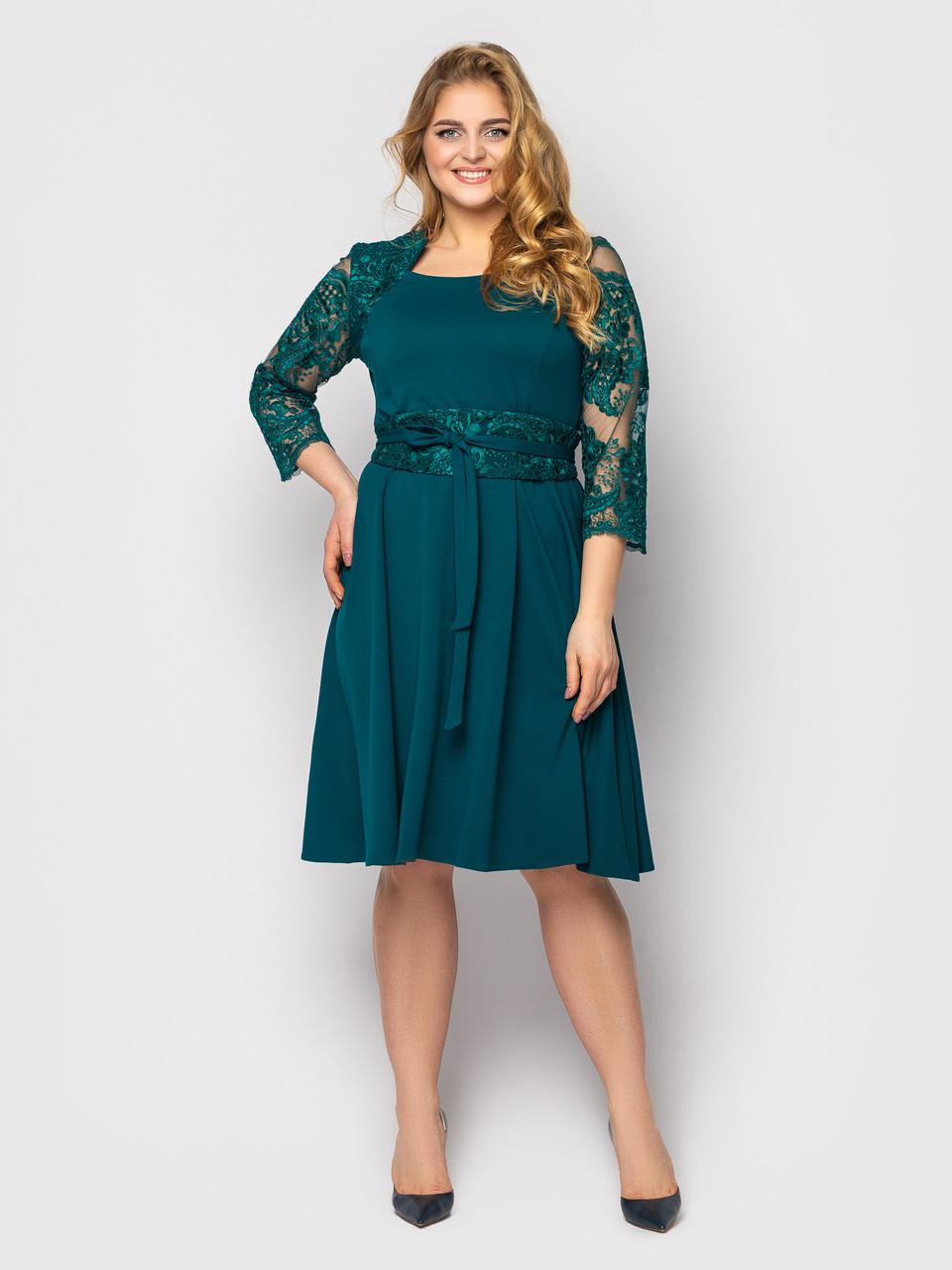 Нарядное платье Кэрол изумруд